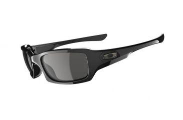 Oakley Fives Squared Single Vision Prescription Sunglasses - Polished Black Frame 03-440