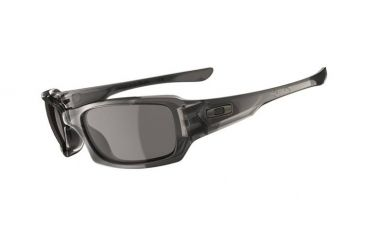 Oakley Fives Squared Single Vision Prescription Sunglasses - Grey Smoke Frame 03-441