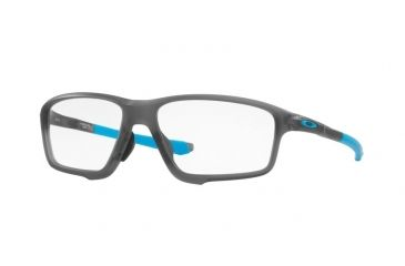 5666f875ef5 Oakley A CROSSLINK ZERO OX8080 Single Vision Prescription Eyeglasses  808001-58 - Satin Grey Smoke
