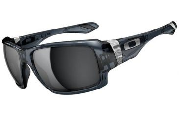 Oakley Big Taco Sunglasses, Crystal Black OO9173-02-RX