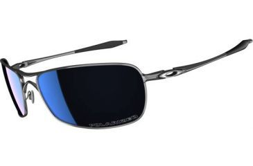 Oakley Crosshair 2.0 Sunglasses, Ice Iridium Polarized Lens, Polished Black Frame OO4044-08