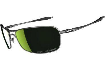 Oakley Crosshair 2.0 Sunglasses, Emerald Iridium Polarized Lens, Polished Black Frame OO4044-09