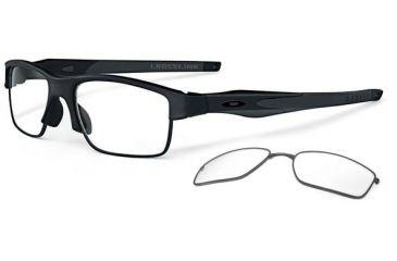Oakley Crosslink Switch Eyeglasses - Satin Black/Satin Black Frame OX3128-0153