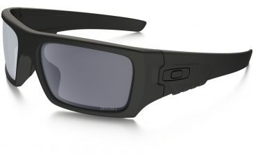 Oakley DET CORD OO9253 Sunglasses 925306-61 - Matte Black Frame, Grey Lenses