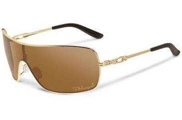 Oakley Distress Sunglasses, Bronze Polarized Lens, Polished Gold Frame OO4073-05