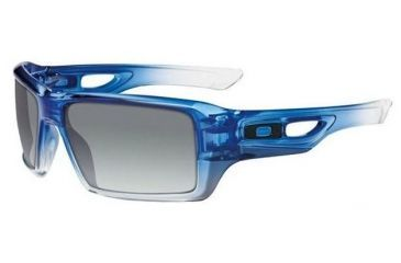 d896134397 Oakley Eyepatch 2 Blue Clear Fade Frame w  Black Grey Gradient Lenses  Sunglasses OO9136