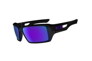 Oakley Eyepatch 2 Polished Black Frame w/ Violet Iridium Lenses Men's Sunglasses OO9136-06