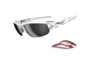 Oakley Fast Jacket Asian Fit Polished White Frame w/ Slate Iridium Lenses Sunglasses OO9162-06