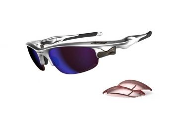 Oakley Fast Jacket Asian Fit Silver Frame w/ G30 Iridium Lenses Sunglasses OO9162-07