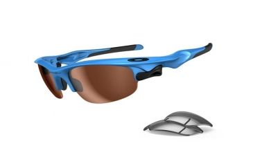 Oakley Fast Jacket Asian Fit Sky Blue Frame w/ VR50 Lenses Sunglasses OO9162-04