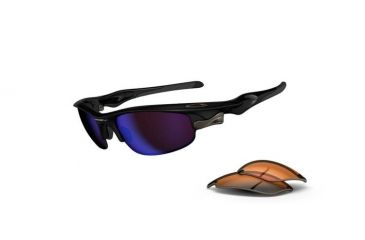 Oakley Fast Jacket Polished Black Frame w/ G30 & Persimmon OO9097-03
