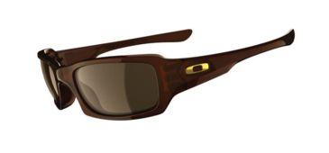 Oakley Fives Squared Single Vision Prescription Sunglasses - Rootbeer Frame 03-442