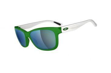 Oakley Forehand Sunglasses, G-Money Frame, Emerald Iridium Lens OO9179-18