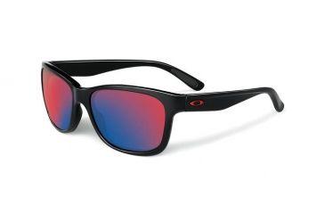 Oakley Forehand Sunglasses, Polished Black Frame, Positive Red Iridium Lens OO9179-27