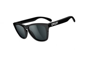 Oakley Frogskins Sunglasses, Polished Black Frame, Grey Lens 24-306