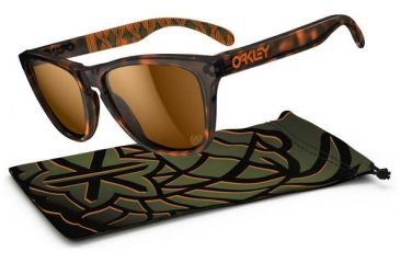 Oakley Frogskins Sunglasses - Kazu Brown Tortoise Frame and Bronze Lens 24-336