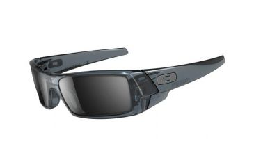 Oakley GasCan Single Vision Prescription Sunglasses - Crystal Black Frame 03-481