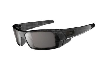 Oakley GasCan Single Vision Prescription Sunglasses - Black Plaid Frame 24-296