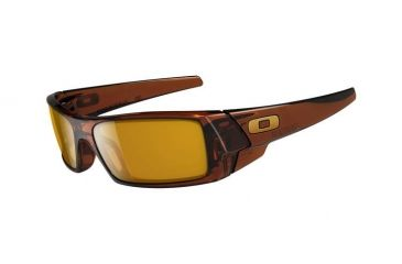 Oakley GasCan Single Vision Prescription Sunglasses - Polished Rootbeer Frame 03-472