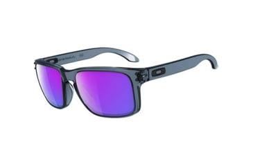 Oakley Holbrook Mens Sunglasses Crystal Black Frame, Violet Iridium Lens OO9102-45