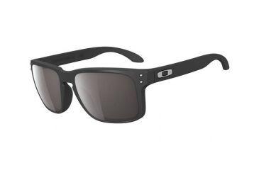 Oakley Holbrook Sunglasses - Matte Black Frame w/ Warm Grey Lenses OO9102-01