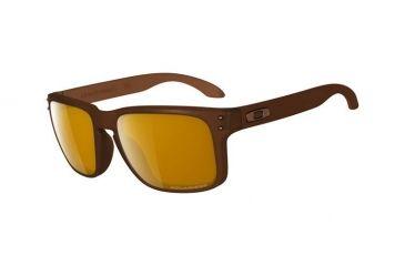 Oakley Holbrook Sunglasses - Matte Rootbeer Frame w/ Bronze Polar Lenses OO9102-03