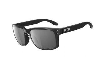 Oakley Holbrook Sunglasses - Polished Black Frame w/ Grey Polarized Lenses OO9102-02