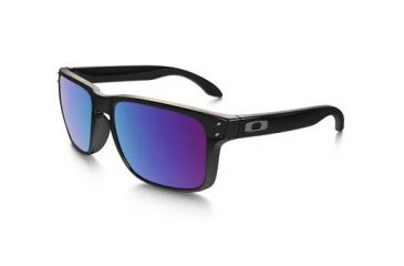 Oakley Holbrook Mens Sunglasses Polished Black Frame, G30 Black Iridium Lens OO9102-55