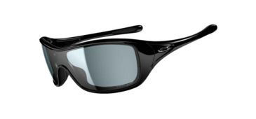Oakley Ideal Sunglasses, Polished Black Frame, Grey Lens, Polarized OO9151-04