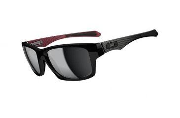 Oakley Jupiter Carbon Mens Sunglasses Polished Black Frame, Black Iridium Polarized Lens OO9220-01