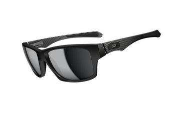 Oakley Jupiter Carbon Mens Sunglasses Matte Black Frame, Black Iridium Lens OO9220-02