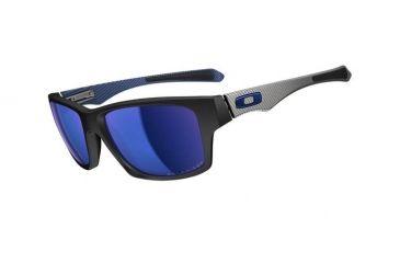 Oakley Jupiter Carbon Mens Sunglasses Matte Black Frame, Ice Iridium Polarized Lens OO9220-04