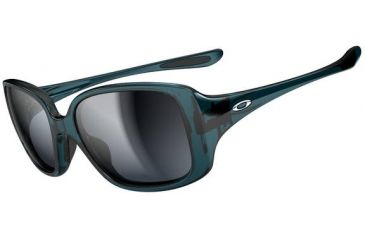 Oakley LBD Sunglasses - Turquoise Frame and Black Grey Gradient Lens OO9193-07