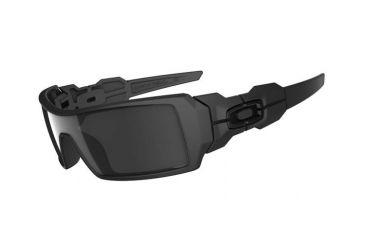 Oakley Oil Rig Matte Black Frame w/ Black Iridium Lenses Men's Sunglasses 03-464