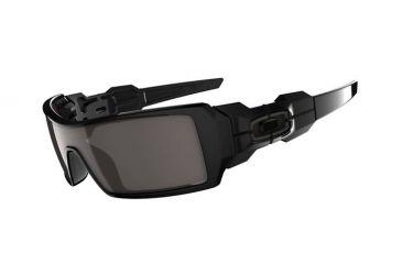 Oakley Oil Rig Polished Black Frame w/ Warm Grey Lenses Men's Sunglasses 03-460