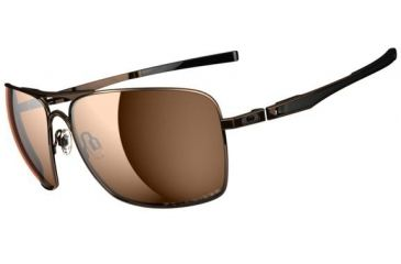 Oakley Plaintiff Squared Sunglasses - Dark Brown Chrome Frame and Bronze Polarized Lens OO4063-06