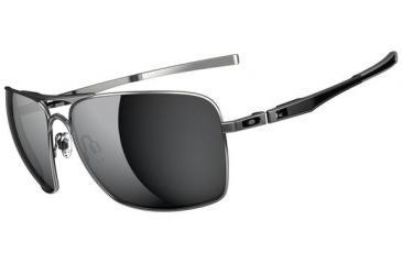 Oakley Plaintiff Squared Sunglasses - Lead Frame and Black Iridium Polarized Lens OO4063-09