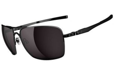 Oakley Plaintiff Squared Sunglasses - Polished Black Frame and Warm Grey Lens OO4063-01