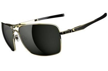 Oakley Plaintiff Squared Sunglasses - Polished Gold Frame and Dark Grey Lens OO4063-02