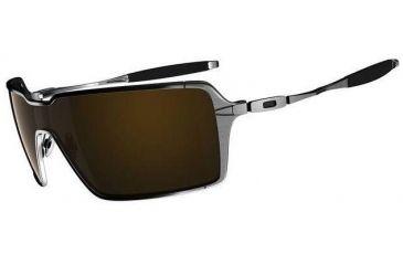 8d4874f461d4e Oakley Probation Brushed Chrome Frame w  Dark Bronze Lenses Sunglasses  OO4041-04