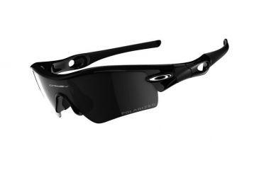 Oakley Radar Path Polished Black Frame w/ Black Iridium Polarized Lenses Sunglasses 09-674