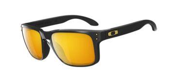 Oakley Holbrook Sunglasses - Pol Black Frame w/ 24K Iridium (SW SS) Lenses OO9102-08