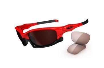 Oakley Split Jacket Sunglasses, Infrared Frame, VR28 Blk Irid+VR50 Lens  OO9099-