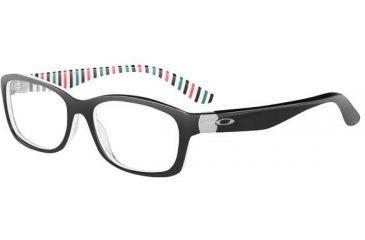 Oakley Convey Single Vision Rx Eyeglasses, Size 51 - Black Peppermint Frame OX1059-0451