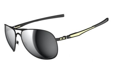 aba891dd02 Oakley SW Plaintiff Matte Black  Gold Frame w  Grey Polarized Lenses Sunglasses  OO4057-