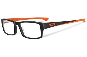 Oakley Tailspin Eyeglasses, Satin Black/Orange, 56.2 mm OX1099-0553