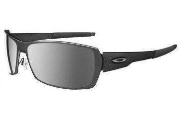 b203f7c046 Oakley Ti Spike Matte Black Frame w  Black Iridium Lenses Sunglasses 05-958