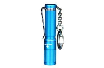 Olight i3S LED Flashlight, 80 Lumens, Blue Body, Black OLIGHT-I3S-BLUE