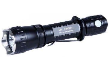 Olight M20CS Crimson Special Operations LED Flashlight with 100 Lumen CREE XP-E R2 Red LED - Uses 2 x CR123A or 1 x 18650, Black OLIGHT-M20SC-CRIMSON