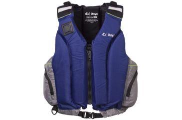 ONYX 5010 Shoal Paddle Sports Vest, L , XL Size, Nylon Shoulders, Sapphire, Silver 5010SAP05